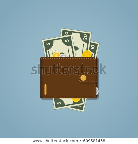 Leather wallet with snap isolated icon stock photo © studioworkstock