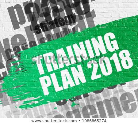 Training Plan 2018 on White Wall. Stock photo © tashatuvango