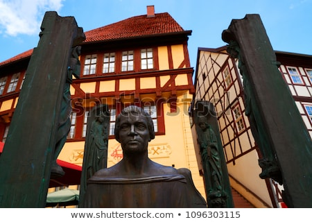 Stolberg statue Thoman Muntzer Denkmal Germany Stock photo © lunamarina