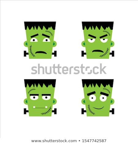 emoticon · polegar · para · cima · cara · homem · diversão - foto stock © yayayoyo