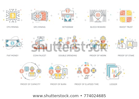Double Spending Flat Icon Stock photo © smoki