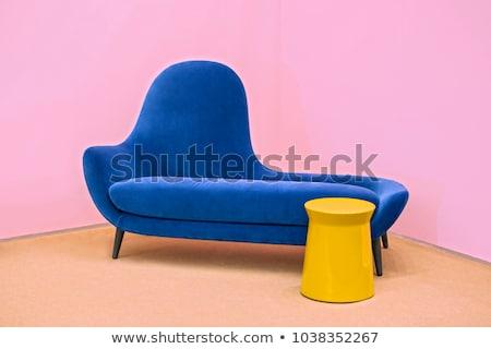 современных розовый мягкой кресло интерьер Сток-фото © MarySan