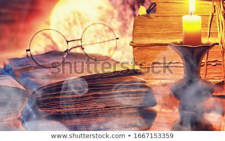 bağbozumu · antika · gözlük · yalıtılmış · beyaz · çerçeve - stok fotoğraf © boggy
