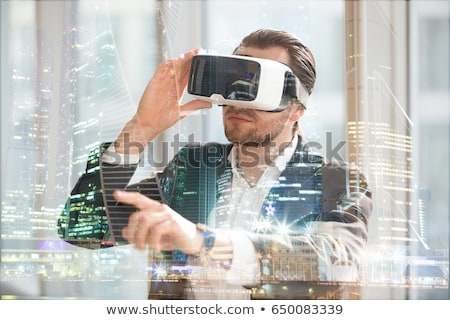 virtual reality goggle men_travel Stock photo © toyotoyo
