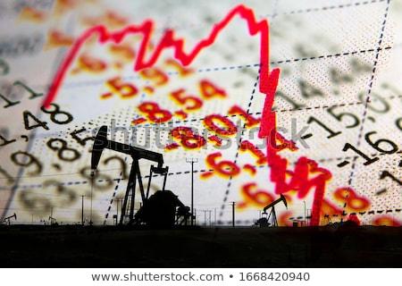 Óleo negócio diminuir energia indústria preço Foto stock © Lightsource