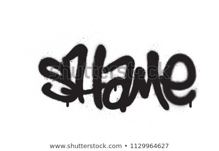 graffiti tag shame sprayed with leak in black on white Stock photo © Melvin07