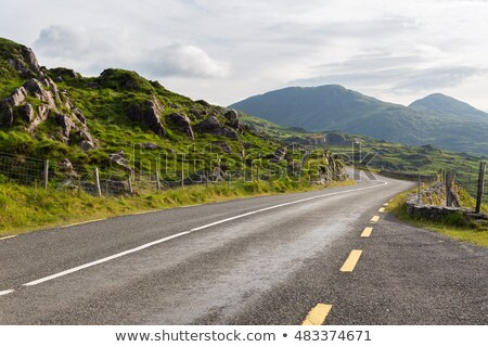 asphalt road and hills at connemara in ireland Stock photo © dolgachov