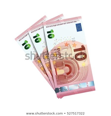 Сток-фото: тридцать · евро · белый · 10 · изолированный