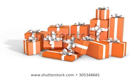 caixa · de · presente · coleção · caixas · de · presente · prata - foto stock © albund