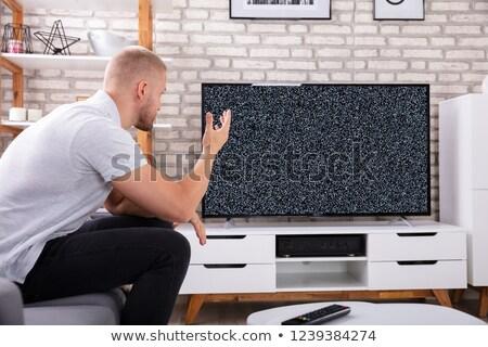 törött · tv · elhagyatott · szemeteskuka · televízió · üveg - stock fotó © andreypopov