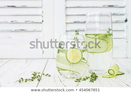 Thyme lemon detox water pitcher Stock photo © maxsol7
