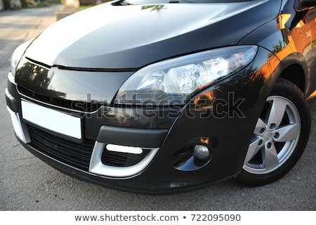 modern car, black hatchback near the fence  Stock photo © ruslanshramko