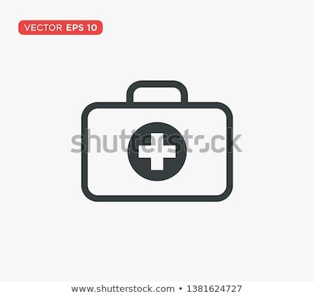Tıbbi yardım ikon imzalamak vektör Stok fotoğraf © vector1st
