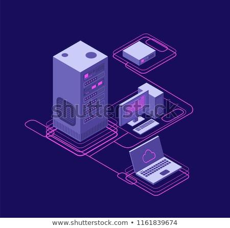 ağ · belge · dosya · vektör · ikon · wifi - stok fotoğraf © -talex-