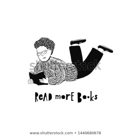 çocuk erkek kitap okumak daha fazla Stok fotoğraf © lenm