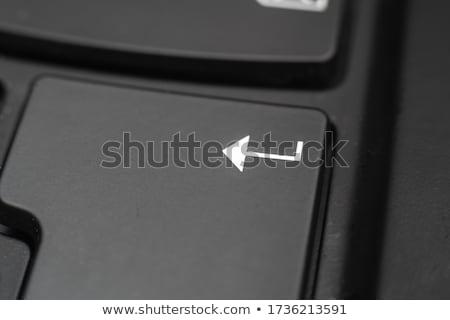 Stock fotó: Close Key Lock With Word Hack Keyboard Background