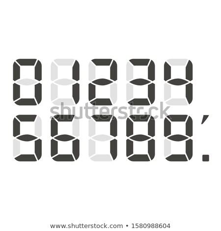 Stock fotó: Fekete · digitális · számok · ikonok · vektor · szett