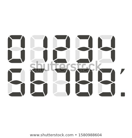 black digital numbers 0 to 9 icons vector Stock photo © blaskorizov