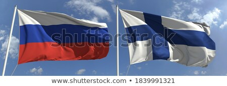 2 フラグ ロシア フィンランド 孤立した ストックフォト © MikhailMishchenko