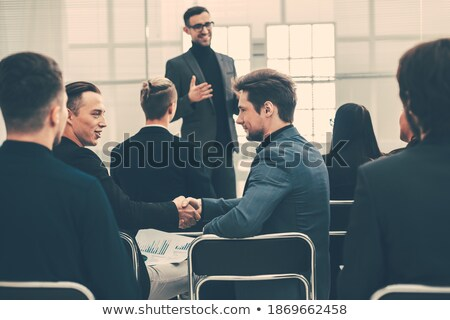 professional economists discussing financial issue stock photo © robuart
