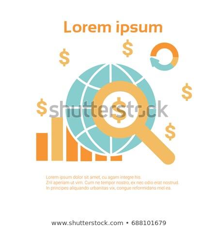 ストックフォト: ビジネス · 経済の · インフォグラフィック · 世界中 · ドル記号 · 孤立した