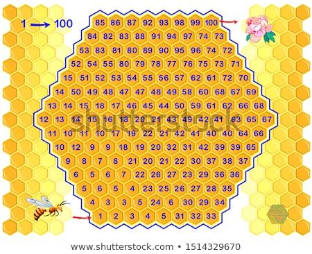 Pszczoła plaster miodu gry ilustracja liści Zdjęcia stock © colematt