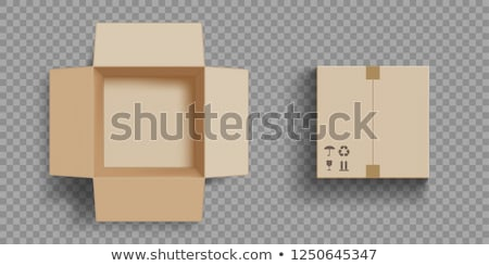 Carton Boxes with Open Top Empty Package Vector Stock photo © robuart