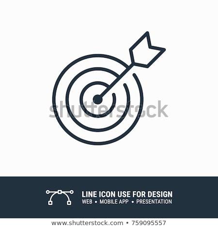 Nero target icona isolato bianco mercato Foto d'archivio © ExpressVectors