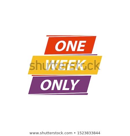 Een week bieden poster lopen glimlachende vrouw Stockfoto © robuart
