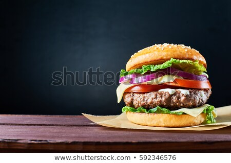 gegrild · rundvlees · hamburger · vlees - stockfoto © grafvision