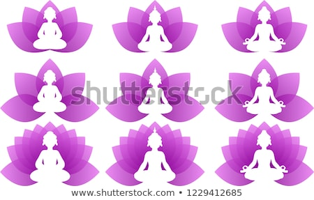 Buddha paars lotus logo illustratie Stockfoto © Blue_daemon