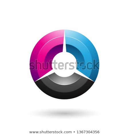 magenta and blue glossy shaded circle vector illustration stock photo © cidepix