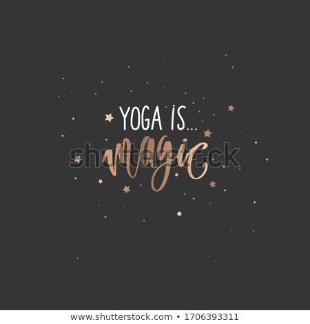 Fonte projeto palavra ioga ilustração esportes Foto stock © colematt