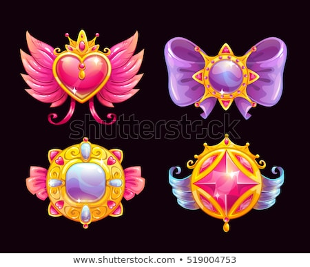 vector cute jewelry heart foto stock © VetraKori