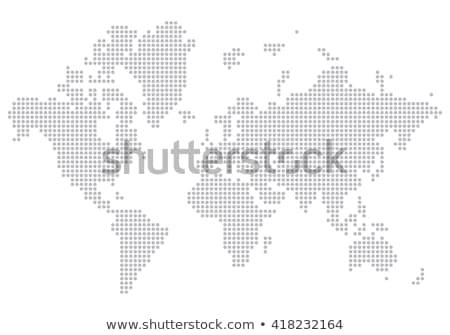 Preto meio-tom triângulo pontilhado mapa do mundo mapa Foto stock © kyryloff