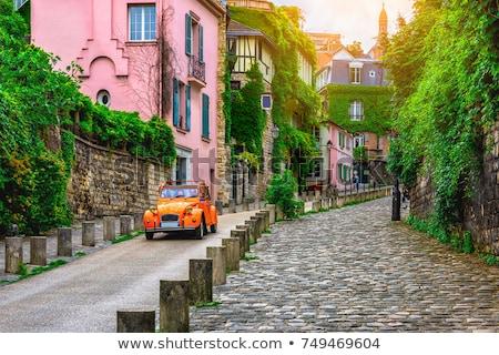Ház Montmartre Párizs régi ház Franciaország épület Stock fotó © artjazz