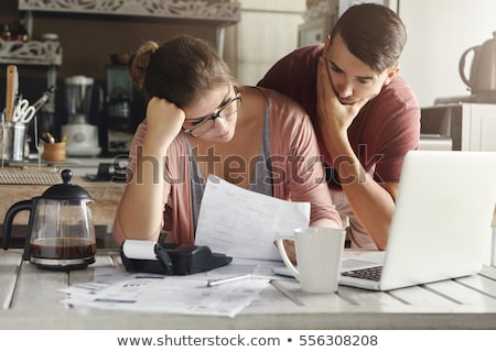 Couple regarder facture bois Photo stock © AndreyPopov