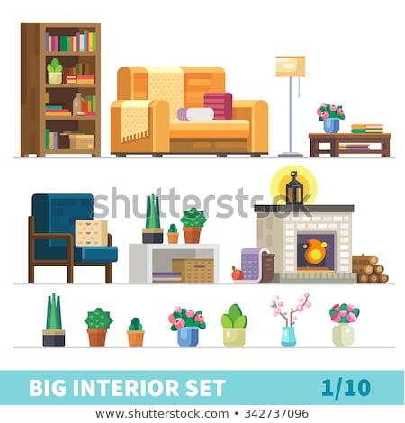 Green Sofa, Comfortable Furniture for Home Icon Stock photo © robuart