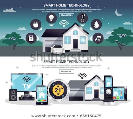 Smart · домой · контроль · технологий · мобильных - Сток-фото © tashatuvango