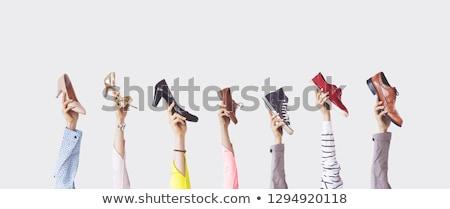 Set diverso scarpe uomo donna eps Foto d'archivio © netkov1