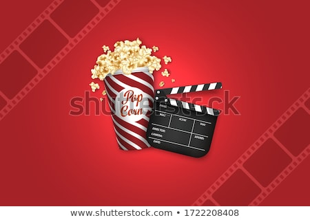 Film Decorations, Glasses and Popcorn, Roll Vector Stock photo © robuart
