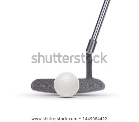 golf · topu · yalıtılmış · beyaz · golf · spor · fincan - stok fotoğraf © feverpitch