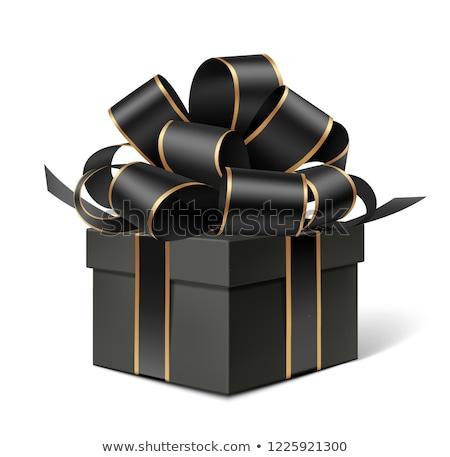 Stockfoto: Luxe · zwarte · goud · lint