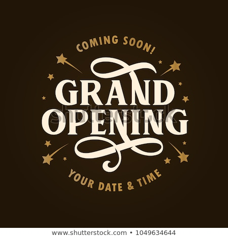grand opening ceremony flyer in golden style Stock photo © SArts
