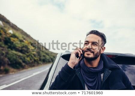 człowiek · wzywając · wsparcie · samochodu · wypadku · smutne - zdjęcia stock © lopolo