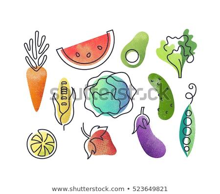 Cibo sano frutta fragola vettore segno icona Foto d'archivio © pikepicture