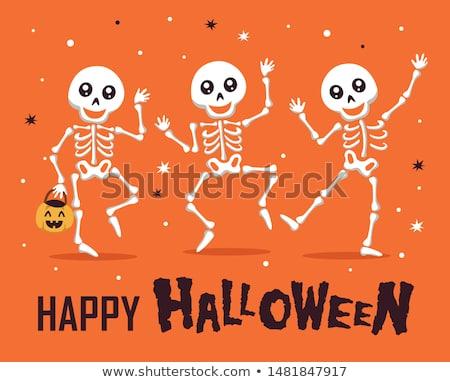 hátborzongató · halloween · csontváz · csontok · terv · háttér - stock fotó © furmanphoto