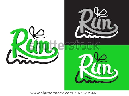 Run for Health. Motto Credo with Sport Sneakers Stock photo © robuart