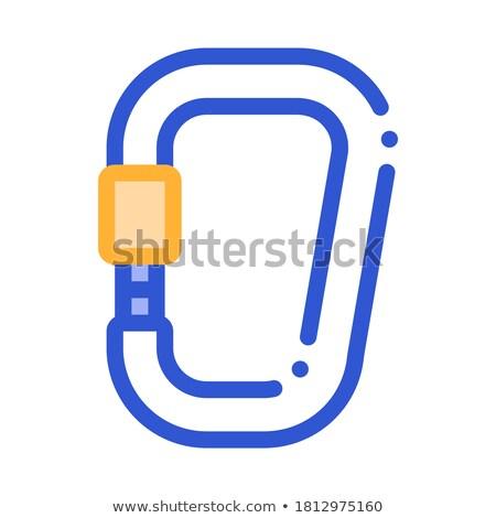 metal carbine alpinism sport equipment vector icon stock photo © pikepicture