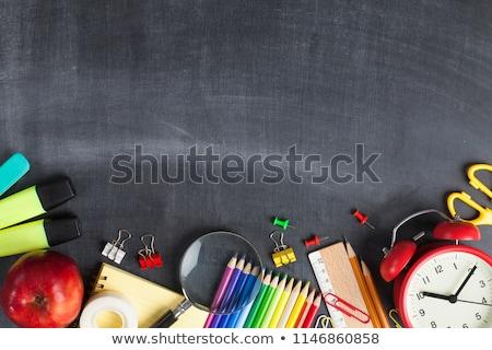 School objecten onderwijs iconen ontwerp communie Stockfoto © cidepix